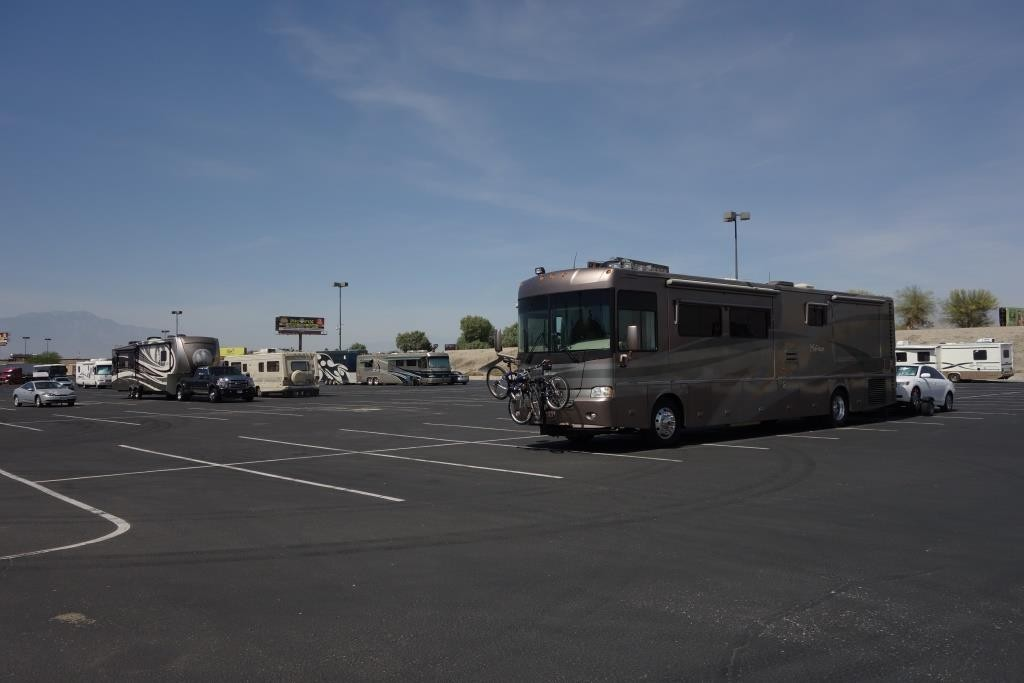 Huge overnight RV parking at Spotlight 29 Casino