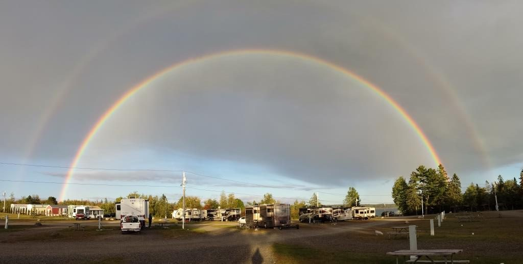 We were treated to a full double rainbow above our RV one rainy afternoon.
